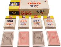 SHARDA 555 MICRO MAX PLAYING CARDS PACK OF 12 DECKS (RED/GREY)