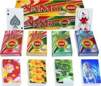 SHARDA NAMO BRAND CLUB QUALITY PLAYING CARDS - PACK OF 12 (RED/YELLOW)