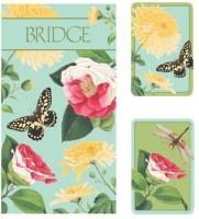 Entertaining With Caspari Bridge Gift Set With Jumbo Typefacewinterthur Florals (Green)