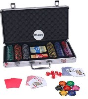 Casinoite Monte Carlo 300 Pcs Dark Millions Clay Pro Poker Chip Set Toy MP (Multi-color)