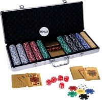 Casinoite Gold 500 Pcs Poker Chip Set Toy MP (Multi-color)