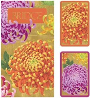 Entertaining With Caspari Bridge Gift Set With Jumbo Typefacechrysanthemums (Multicolor)