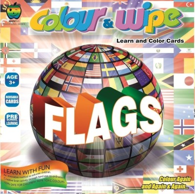 Apple Apple Fun Colour  Wipe Flags Mini