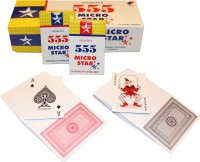 SHARDA 555 MICRO STAR PLAYING CARDS PACK OF 12 (RED/GREY)