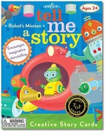 eeBoo Card Games eeBoo Tell Me A Story Creative Story Little Robot'S Mission