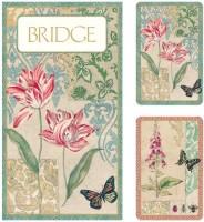 Entertaining With Caspari Bridge Gift Set With Jumbo Typefacedecoupage (Beige)