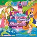 Apple Fun Colour & Wipe Fairies Princess Mermaid Mini