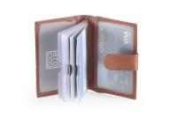 Hide & Sleek 15 Card Holder (Set Of 1, Brown)