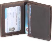 Hide & Sleek Mini Thin Slim Real Leather, 4 Card Holder (Set Of 1, Brown)
