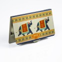 Mad(e) In India Elephants Visiting, 20 Card Holder - Set Of 1, Multicolor