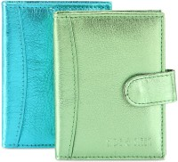 Hide & Sleek Soft Leather 20 Card Holder Set Of 2, Multicolor - CHDEA2YHVVYFY5GC