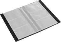 Ecoleatherette 3 Visiting Card Book 3vcb.Black, 120 Card Holder (Set Of 1, Black)