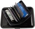 CoverDrive Hard Case Wallet, 6 Card Holder - Set Of 1, Black