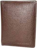 Hide & Sleek Leather Business Credit ID Genuine Business Id, 4 Card Holder (Set Of 5, Brown)