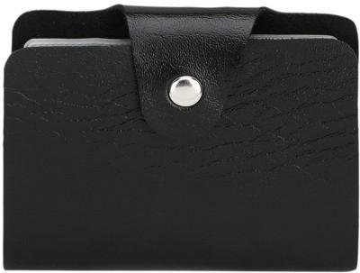 DGH Men, Women Casual Black Artificial Leather Card Holder 10 Card Slots