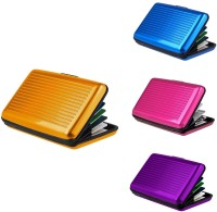 Lavi Pack Of 4 Comfy & Handy 6 Card Holder (Set Of 4, Gold, Blue, Purple, Pink)