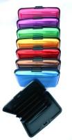 HTS 6 Card Holder (Set Of 8, Blue, Grey, Red, Purple, Pink, Gold, Brown, Green)