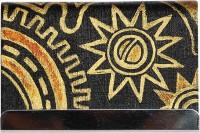 Rangrage Visiting Handpainted Steampunk, 50 Card Holder (Set Of 1, Brown, Gold)