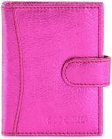 Hide & Sleek Soft Leather 20 Card Holder Set Of 1, Pink