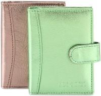 Hide & Sleek Soft Leather 20 Card Holder Set Of 2, Multicolor - CHDEA2YGJC6BUQYU