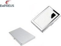 Empreus High Quality ATM & Visiting Card Holders 6 Card Holder (Set Of 2, Silver, White)