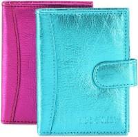 Hide & Sleek Soft Leather 20 Card Holder Set Of 2, Multicolor - CHDEA2YHTXHPJWGN