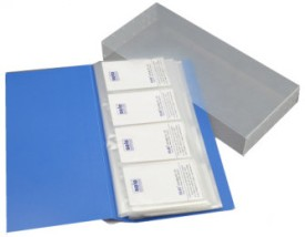 Solo BC 808 Card Holder - Set Of 20, Blue
