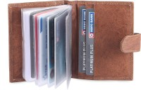 Hide & Sleek 20 Card Holder (Set Of 1, Brown)