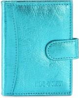 Hide & Sleek Soft Leather 20 Card Holder Set Of 1, Blue
