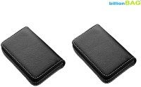 BillionBAG Full Soft Black Leather (Pack Of 2) 15 Card Holder (Set Of 2, Black)