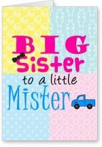 Lolprint Big Sister to a Little Mister Rakhi