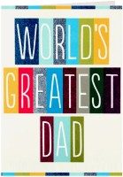 Giftsbymeeta Worlds Greatest Dad Fathers Day Greeting Card (Multicolor, Pack Of 1)