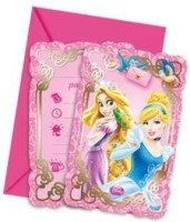 Disney Princess & Animals-Die-Cut Invitations & Envelopes Greeting Card (Multicolor, Pack Of 6)