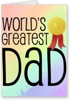 Lolprint World's Greatest DAD Fathers Day Greeting Card (Multicolor, Pack Of 1)