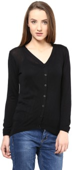 Annabelle By Pantaloons Women's Button Solid Cardigan - CGNEA39VR2BTW5HR