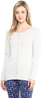 Annabelle By Pantaloons Women's Button Solid Cardigan - CGNEA39VTBSUUXPB
