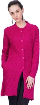 Montrex Women's Button Solid Cardigan