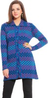 Tab 91 Women's Button Polka Print Cardigan