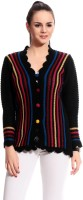 Tab 91 Women's Button Self Design Cardigan - CGNE26PMHZTHP4E5