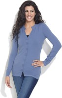 Soie Women's Button Solid Cardigan