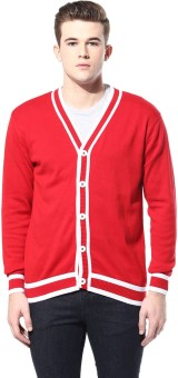Ajile By Pantaloons Men's Button Solid Cardigan