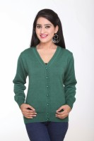 Kantham Women's Button Solid Cardigan