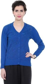Tab 91 Women's Button Solid Cardigan - CGNEBY6YXVYGVHJQ