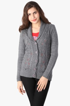 Annabelle By Pantaloons Women's Button Solid Cardigan - CGNE9YD62M25FVPF