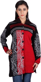 Montrex Women's Button Printed Cardigan