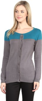 Annabelle By Pantaloons Women's Button Solid Cardigan - CGNEA39V3GNUBSPJ