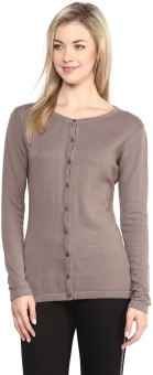 Annabelle By Pantaloons Women's Button Solid Cardigan - CGNEA39VZC2GSHY8