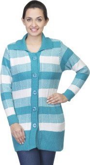 One Femme Women's Button Striped Cardigan - CGNED9RPZKF76SZX