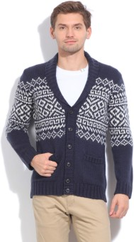 United Colors Of Benetton Men's Button Printed Cardigan