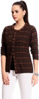 Tab 91 Women's Button Self Design Cardigan - CGNE26PMYHGMRGYB